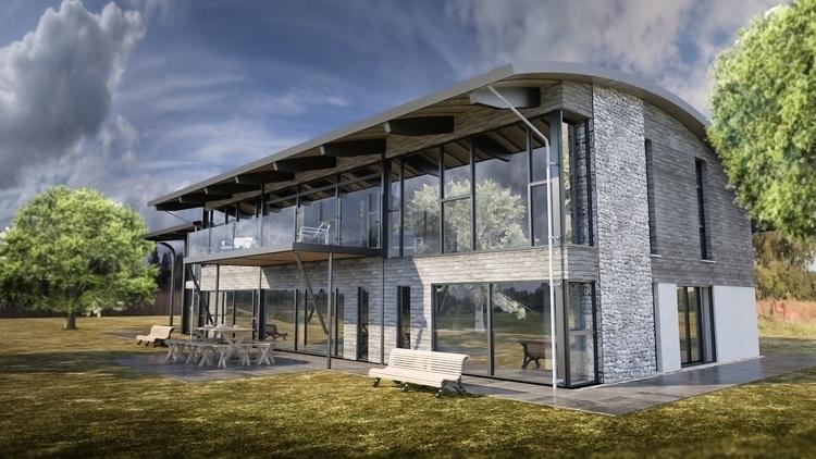 House render - conceptart, maya - malcolmcross | ello
