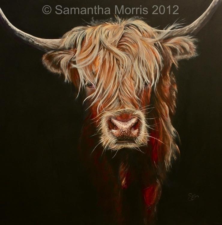 Gaelic Girl - fineart, animal, cattle - cowart-1310 | ello