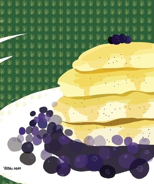 pan cake - illustration, painting - yebin | ello