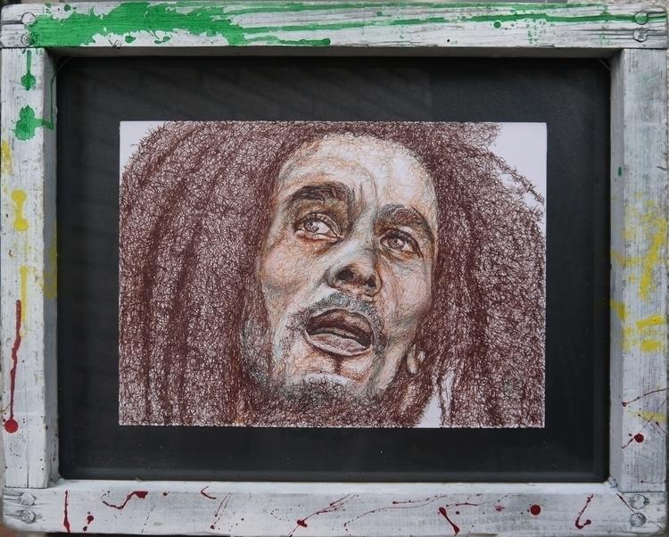 Boby - bobmarley, drawing, pen, portrait - el_compy | ello
