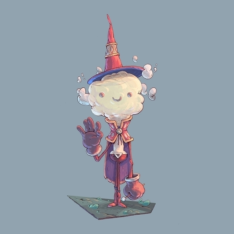 Smoke Mage - characterdesign, mage - tommonster | ello