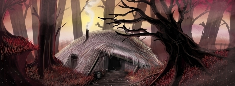 Red forest - illustration, painting - bryanmahy | ello