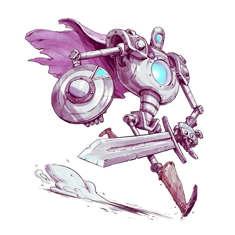 Robo Knight - characterdesign, robot - tommonster | ello