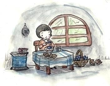 Edith home - illustration, drawing - serenedaoud | ello