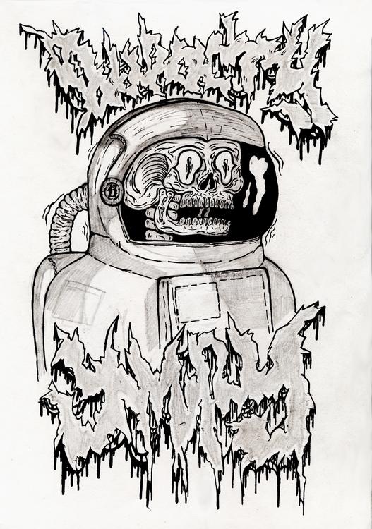 Space traveler - illustration, art - w8id | ello