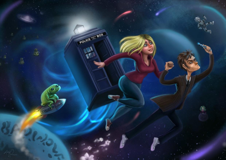 Doctor 50th Anniversary - illustration - kamiqueiroz | ello