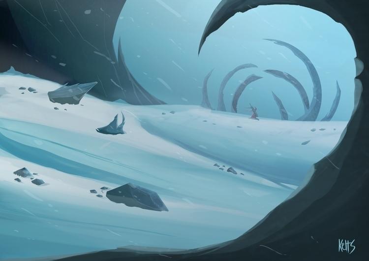 Shivas lands - painting, conceptart - kelts-7159 | ello