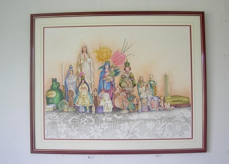 Altar Watercolor Strathmore pap - mjastudillo | ello