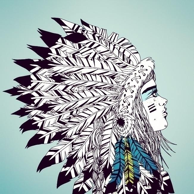 Indian girl - illustration, indian - monicarrero | ello
