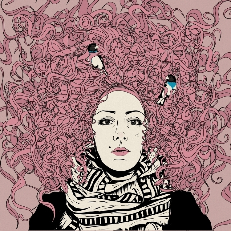 Daniela - illustration, portrait - monicarrero | ello