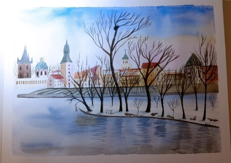 Prague - winter, town, landscape - artolgash | ello