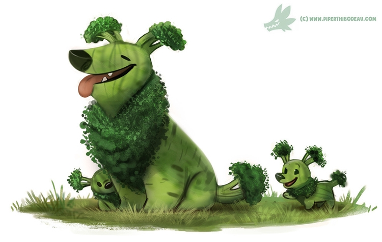 Daily Paint Broccollie - 1234. - piperthibodeau | ello