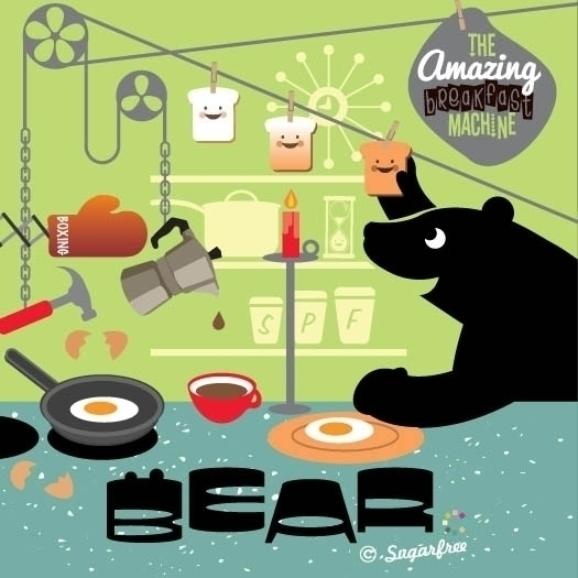 Bear Sugarfree Design - illustration - simonewhite-1036 | ello
