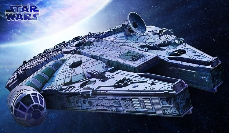 Millennium Falcon - Han spacesh - eliran_bichman | ello