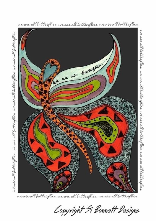 Butterflies - illustration, painting - simonebonnett   ello