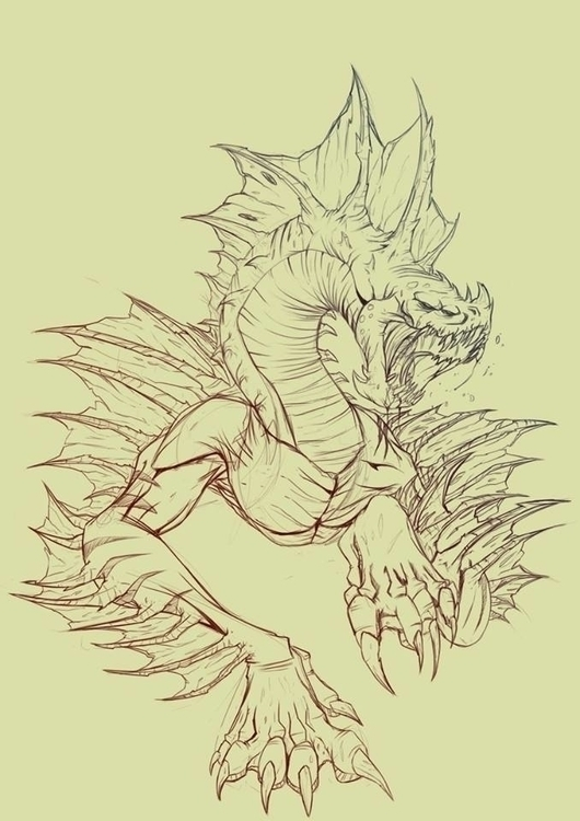 Dragon - sketch - kelts-7159 | ello