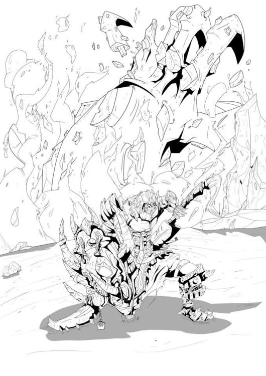 Giant slayer - illustration, inking - kelts-7159 | ello