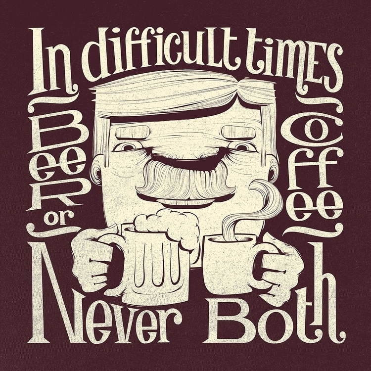 Beer Coffee - art, illustration - caiobeltrao | ello
