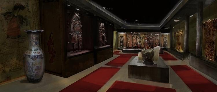 Museum set design - conceptart - chico-5381 | ello