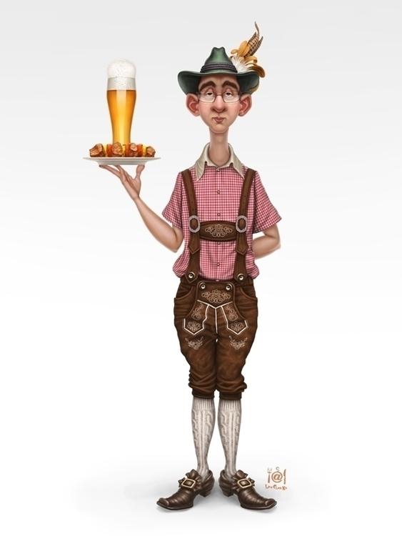 Character - waiter, beer, bayern - marduk-1068 | ello