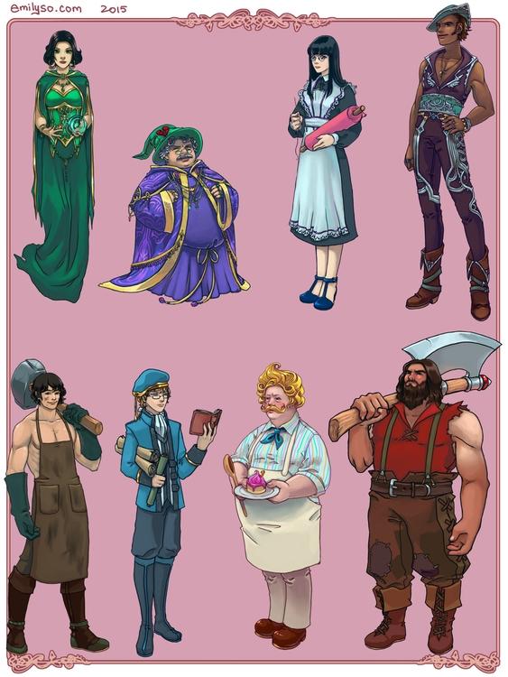 Game character designs - characterdesign - emilyso321 | ello