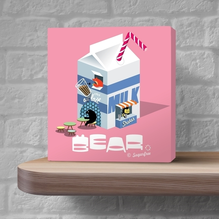Bear friends visit Milk Bar - illustration - simonewhite-1036 | ello