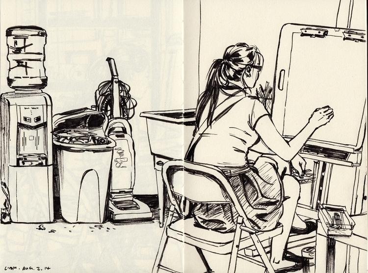 study, sketchbook - linbhu | ello