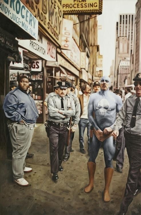 """Cops"" Oil canvas – print - superhero - andreasenglund-4144   ello"