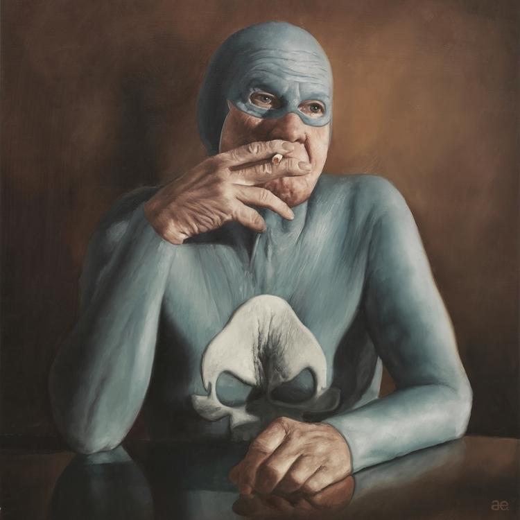"""Smoking"" Oil canvas – print - smoking - andreasenglund-4144 | ello"