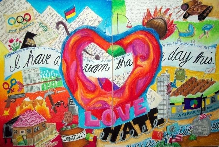 Love Hate - illustration - tracieclaflinbryant | ello