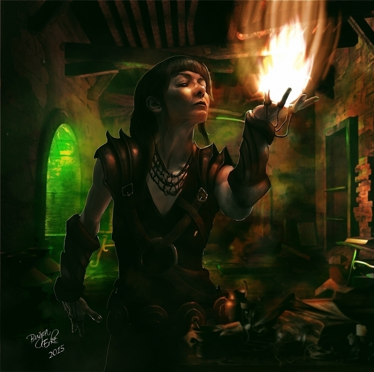 Sorcerer - illustration, painting - aspendar | ello