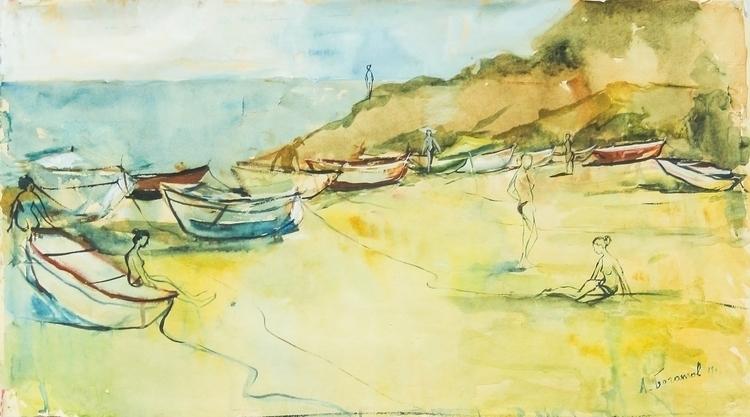 Wild beach (Spain), 43/69 paper - antonbogatov | ello