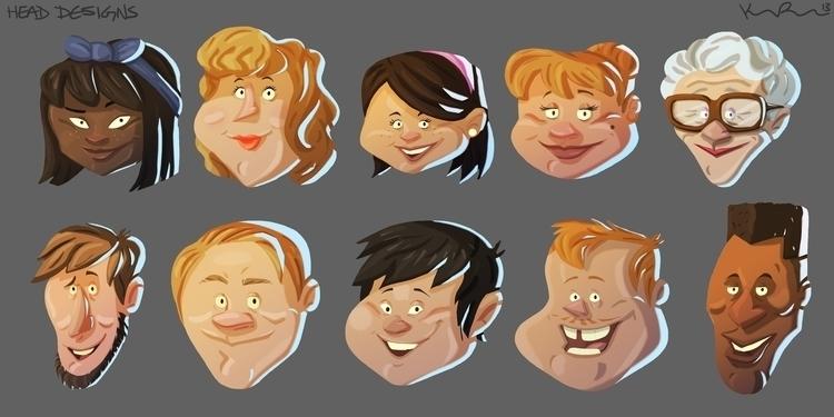Random head designs - characterdesign - kirkparrish | ello