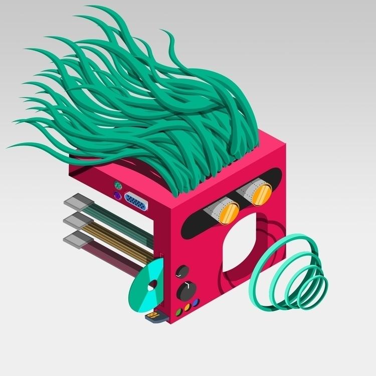 vector, illustration, tecno, robot - kimwilgin   ello
