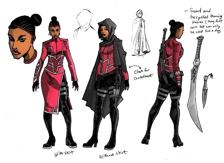 Oya - Character Design - illustration - woody-2265 | ello