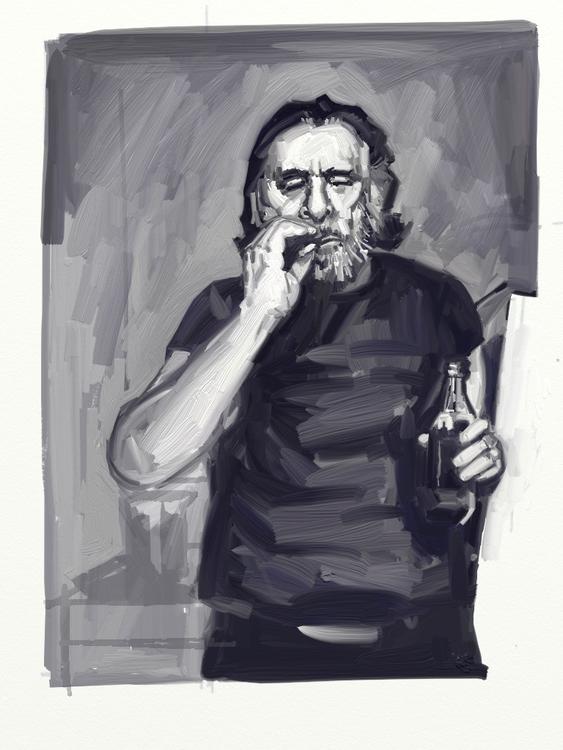 Portrait Charles Bukowski - bukowski - christoff3000-1340 | ello