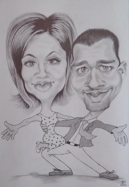 caricature, pencil - drawing, dance - spiritfc | ello