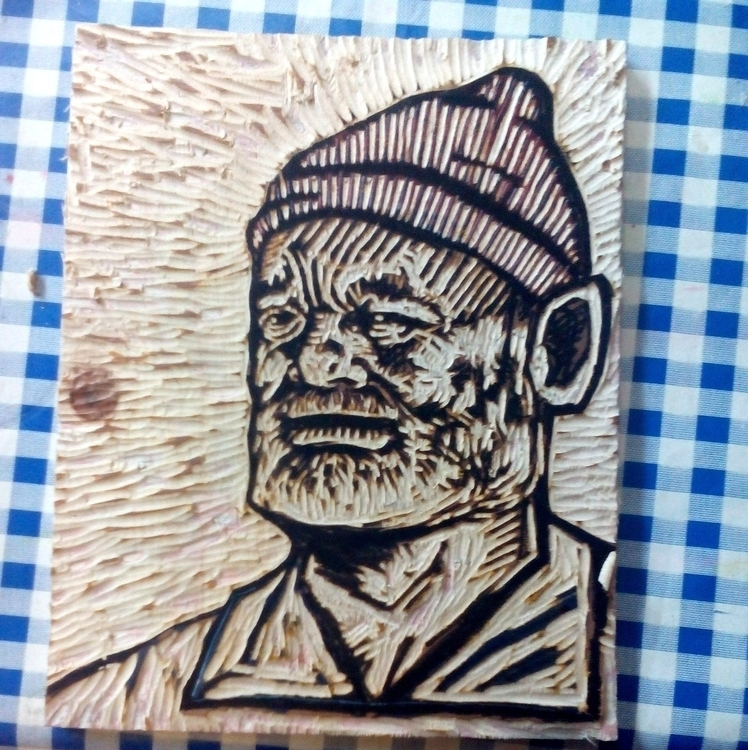 woodcut - billmurray, cut, stevezissou - davewhelanart | ello