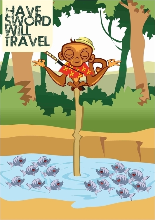 Monk - Sword Travel - illustration - woody-2265   ello