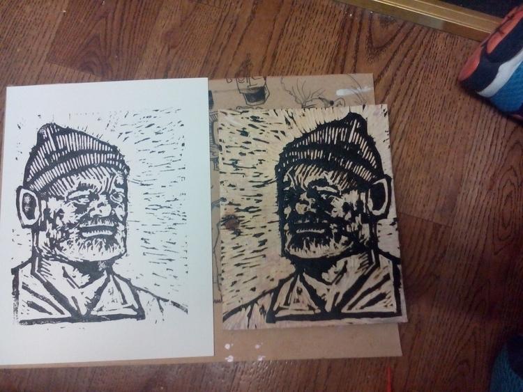 PRINT - print, printmaking, woodcut - davewhelanart | ello