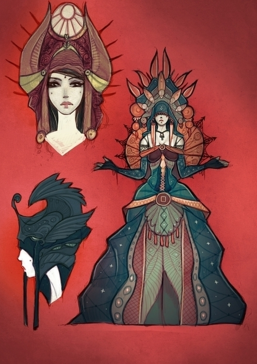 Inspired Art Nouveau - Queen, conceptart - eskar | ello