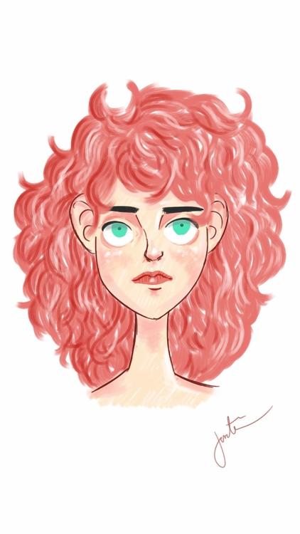 love hair - 80s, illustration, doodle - thisjustine | ello