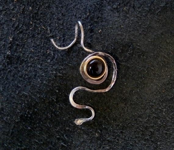 stainless steel earring Onyx - stainlesssteel - wolfgangschweizer | ello