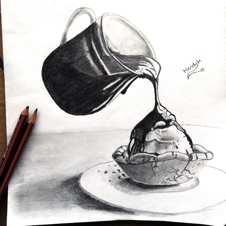 Chocolate syrup cupcake. black  - winky-3948 | ello