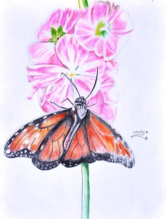 Butterfly flowers. Medium color - winky-3948 | ello