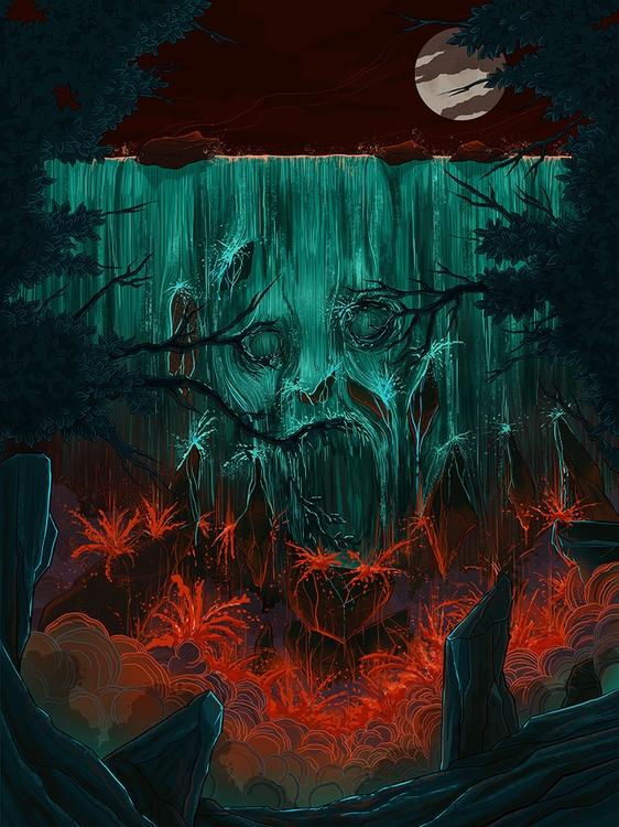 Horror film concept poster clie - kiwifruitbird | ello