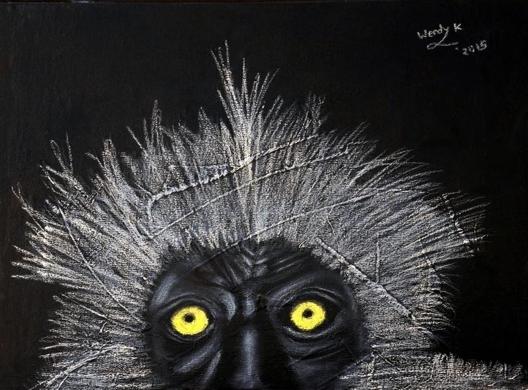 Monkey sees. Medium acrylic pai - winky-3948 | ello