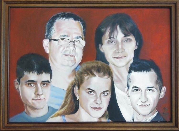 portrait, oil paint - painting, oilpainting - spiritfc | ello