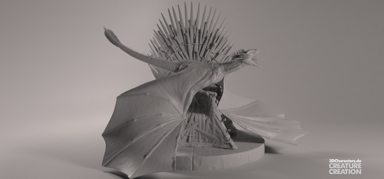 Game Thrones - Dragon - illustration - 3dcharacters | ello