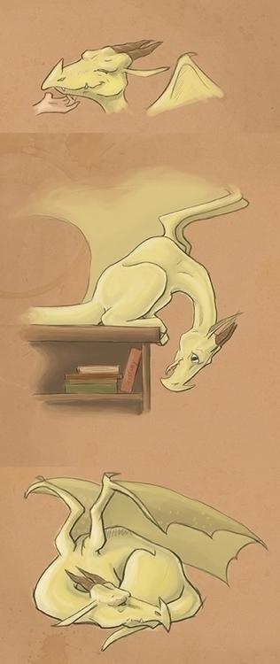 baby dragon concepts - fantasy, illustration - corinnavargas | ello